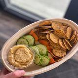 Hummus Veggie Platter W/chips